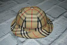 Burberrys  cap checks nova beige vintage hat flat 56 6 7/8 rare