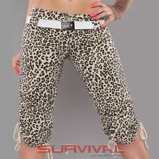 Animal Print Cotton Shorts for Women