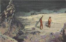 Linen Postcard; Lava Tube Ice Caves near El Morro NM Cibola County Unposted