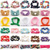 Newborn Baby Girls Kids Bunny Rabbit Soft Bow Knot Headband Hair Wrap Headwear