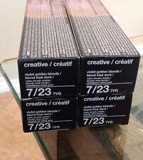 TIGI Creative Color (Lot Of 4) 7/23 7VG Violet Golden Blonde New 2 Oz.