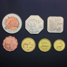 Darfur Sultanate 7 Coins Set, 5 - 500 Dinars, 2008, Animals, UNC