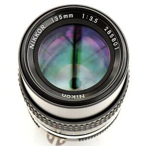 Nikon Nikkor 135mm f/3.5 AI Super Sharp Lens. Mint-. Test'd. See Test Images