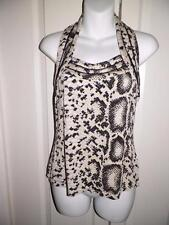 WHITE HOUSE BLACK MARKET Multi Print Halter Tank Top Small