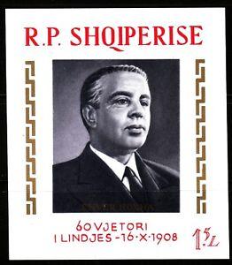 ALBANIA Sc 1190 NH ISSUE OF 1968 - SOUVENIR SHEET - E.HOXHA