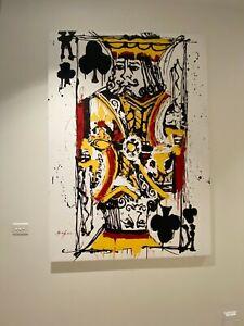 "MARK HANHAM ""King of Queens"" playing card mixed media artwork 171cm x 120cm"