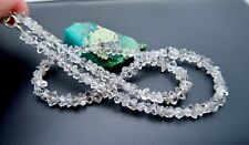 AAAAA RARE NATURAL HERKIMER STYLE QUARTZ CRYSTAL BEADS FINISHED NECKLACE 94.20ct