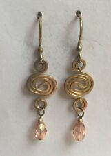 Jody Coyote Earrings JC0628 bead WB194G-01 14kt gold plated ear wire pink