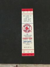 MLB- BOSTON RED SOX 1993 OPENING DAY V.CLEVELAND INDIANS-4/12/1993 FULL TICKET