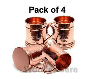 Vintage Benjamin & Medwin Inc. Set of 4 Solid Copper Tankard Moscow Mule Cup Bee