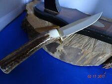 "MUELA 9"" RED STAG HANDLE *FIXED BLADE* KNIFE 440A STAINLESS BLADE MADE IN SPAIN"