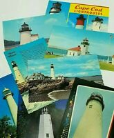 Lighthouse Postcards Cape Cod Alki Point Portland Head Lot of 8 Unposted