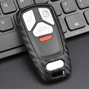 Silicone Carbon Fiber Car Remote Key Cases Cover For Audi A4 A5 Q5 Q7 S4 S5 TT