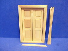 Dolls House 1/12 scale      6 panel Double Door     TC6062