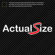 (2x) Mini Actual Size Sticker Die Cut Decal Self Adhesive jdm cooper