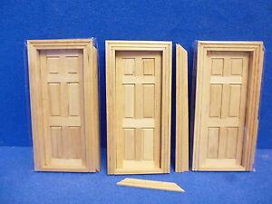 1/12 scale Dolls House Internal Doors   Pack off 3  TC6007