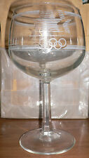 1984 Olympic Games Los Angeles Wine Glass with Official Olympic Logo No1 RARE!!!