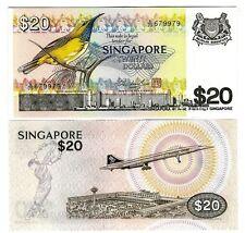SINGAPUR SINGAPORE $ 20 1979 CONCORDE UNC P 12