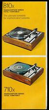 Rare BSR Turntable Brochure 810x 710x 620/520/260/6500/4800/2000ax 310axe & More