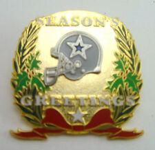 Dallas Cowboys Season's Greetings Christmas Holiday Pin - NFL Licensed Jewelry