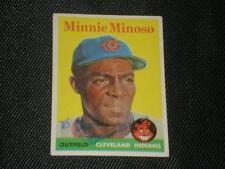 MINNIE MINOSO 1958 TOPPS SIGNED AUTO CARD #295 INDIANS