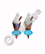 ice cream van / set of 2 waffles ( chic dip and sprinkle coated) DIE CUT,