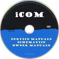 ICOM Ham Radio Service Owner Manuals & Schematics- PDFs on DVD- Huge Set