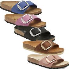 Women Birkenstock Madrid Hex Big Buckle Slides Adjustable 1 Strap Sandals NEW