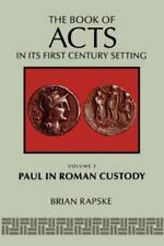 The Book Of Acts And Paul In Roman Custody-ExLibrary