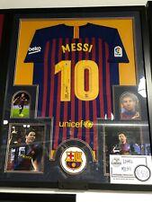 Lionel Messi - Barcelona - Framed Jersey - Beckett Autograph