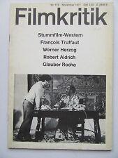 Critique NR 179, novembre 1971, film muet western, werner Herzog, truffaut