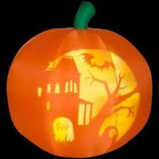 New 5' Panoramic Projection Pumpkin Halloween Airblown Inflatable Yard Decor
