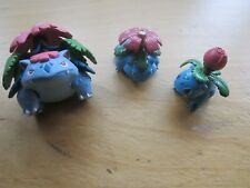 3 X ORIGINAL POKEMON NINTENDO TOMY FIGURES VENUSAUR SET SERIES LOT BUNDLE