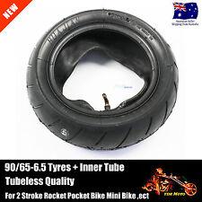 90/65-6.5 Tyre +Tube Mini Petrol Scooter Pocket Rocket Bike Tire 38cc 47cc 49cc