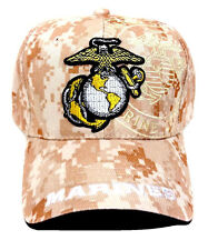 USMC UNITED STATES MARINE CORPS US DIGITAL CAMO MILITARY HAT CAP MARINES DESERT