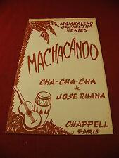 Partitura Machacando Cha Cha Cha Jose Ruana