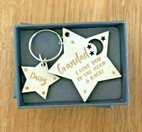 Personalised Christmas Gifts For Him Daddy Grandad Grampy Papa Dad Keyring Gifts