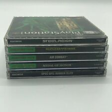 Sony Playstation PS1 War Game Shooting 5 Video Game Lot Black Label