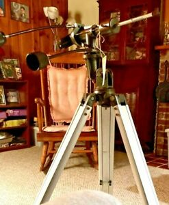 Vintage Heavy Duty Alt-Azimuth AlumTripod. Spotting Scope, Binoculars, Camera