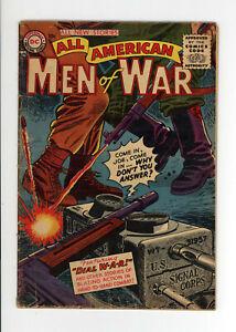 ALL AMERICAN MEN OF WAR #26 - FANTASTIC DC WAR COVER - 1955