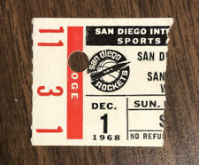RARE 1968 San Diego Rockets vs San Francisco Warriors Ticket Stub Elvin Hayes