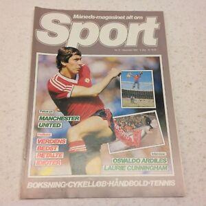Arnold Mühren Manchester United Soccer Star Vtg 1982 Danish Football Magazine