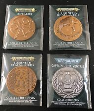 Games Workshop Collectible Coins New Lumineth,Uriel Ventris, Be'lakor, Slaanesh