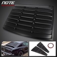 Side 1/4 Window Louver Cover + Rear Back Window Louver For 05-14 Ford Mustang GT