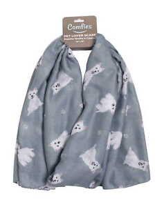 Westie Scarf - Lightweight Cotton Polyester