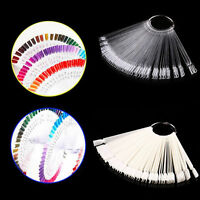 50Pcs Nail Art False Tips Sticks Practice Display Fan Board Design Tools