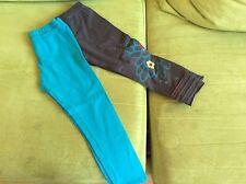 Legging Turquoise Catimini T4 Ans + Kdo Legging Noir Catimini