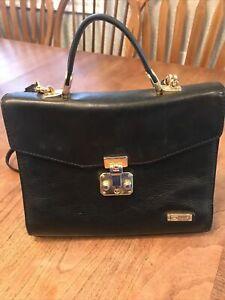 HCL Handcrafted Black Signature Small Handbag. Strap (Germany). 1344125