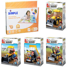 Sluban Kids Building Blocks Tractor Set with Dump Truck and more (438 Piece)