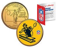PITTSBURGH STEELERS *Licensed* NFL Pennsylvania 24K Gold Quarter Coin * RETRO *